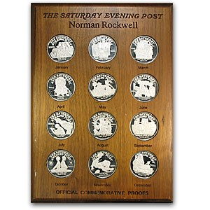 (12) 2 oz Silver Round - Norman Rockwell (Set of 12)