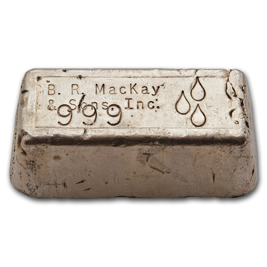 12.89 oz Silver Bar - B. R. MacKay & Sons