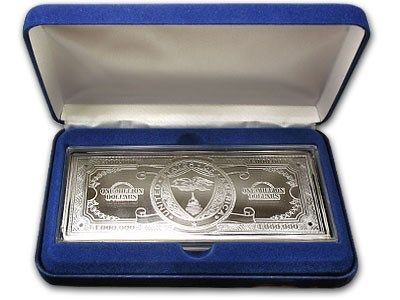 12 oz Silver Bar - $1,000,000,000 Bill