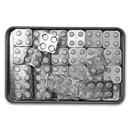 12 oz Silver Building Block Bars - 40-Piece Accessory Set