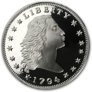 12 oz Silver Round - Bust Dollar Replica (1794)