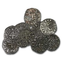 (1200-1400 AD) Frankish Greece Denier Tournois VF (Crusades)