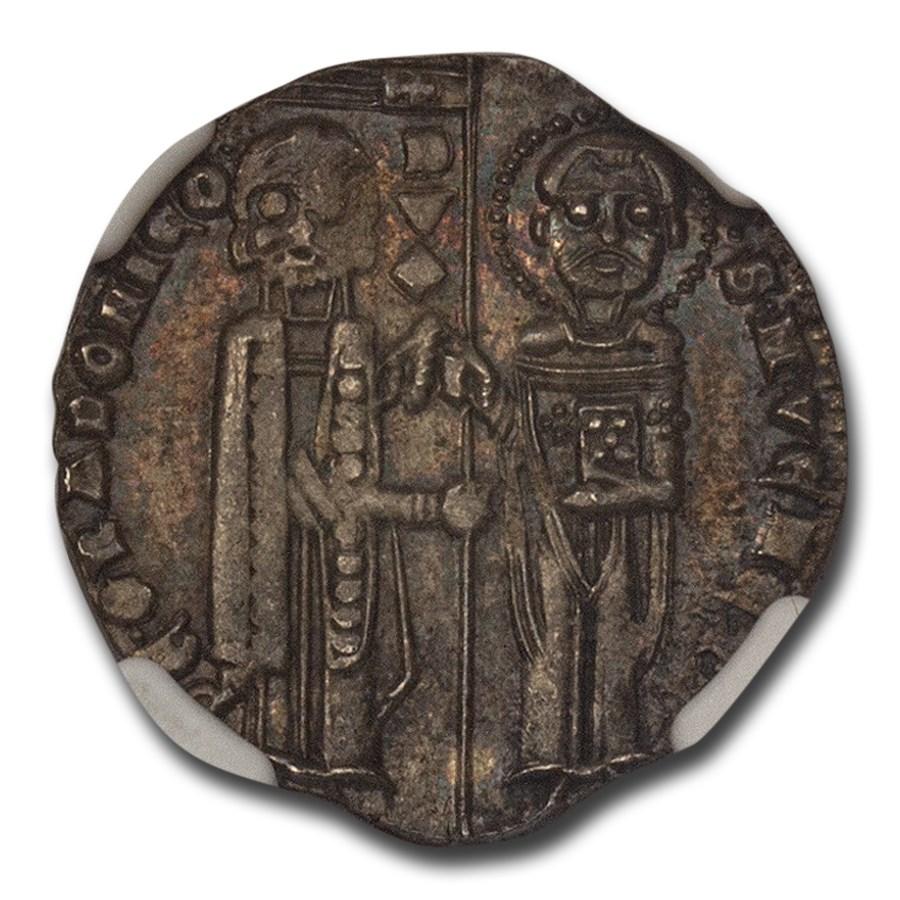 (1289-1311AD) Italian States Venice AR Grosso MS-64 NGC