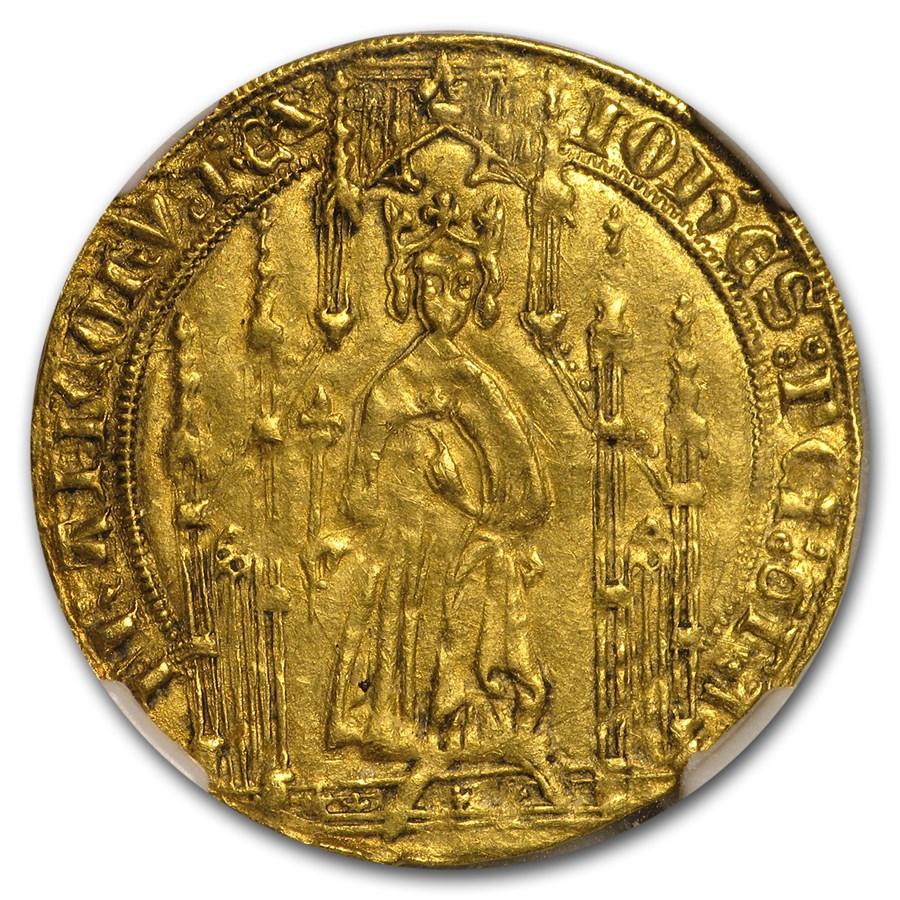 1350-1364 France Gold Royal D'Or AU-55 NGC