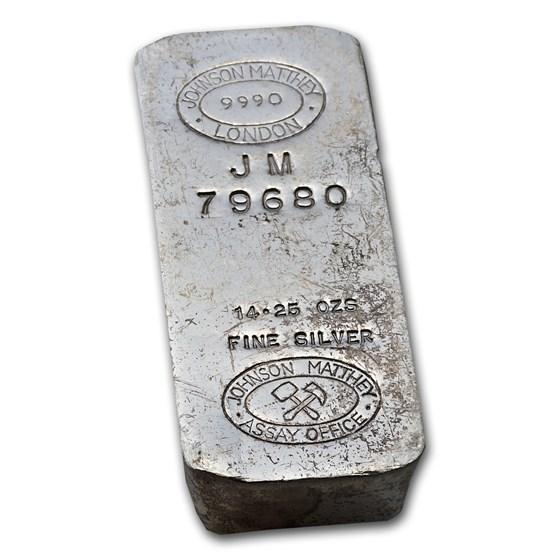 14.25 oz Silver Bar - Johnson Matthey (London)