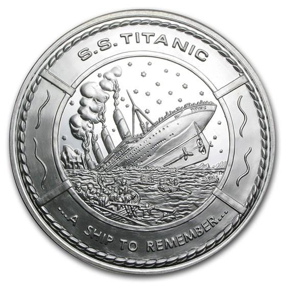 14.6 oz Silver Round - S.S. Titanic Commemorative