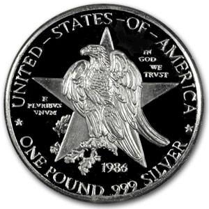 14.6 oz Silver Round - Texas Sesquicentennial (Replica)
