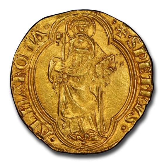 1447-55 Papal States Gold Florin Nicholas V MS-62 PCGS