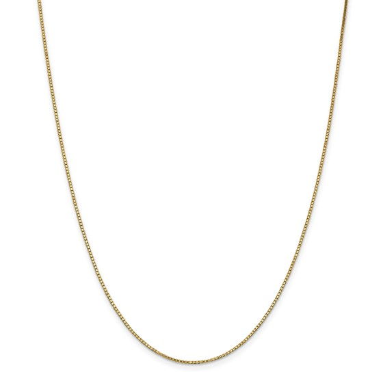 14k 1.1 mm Box Chain Necklace - 24 in.