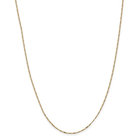 14k 1.25 mm Flat Figaro Chain Necklace - 16 in.
