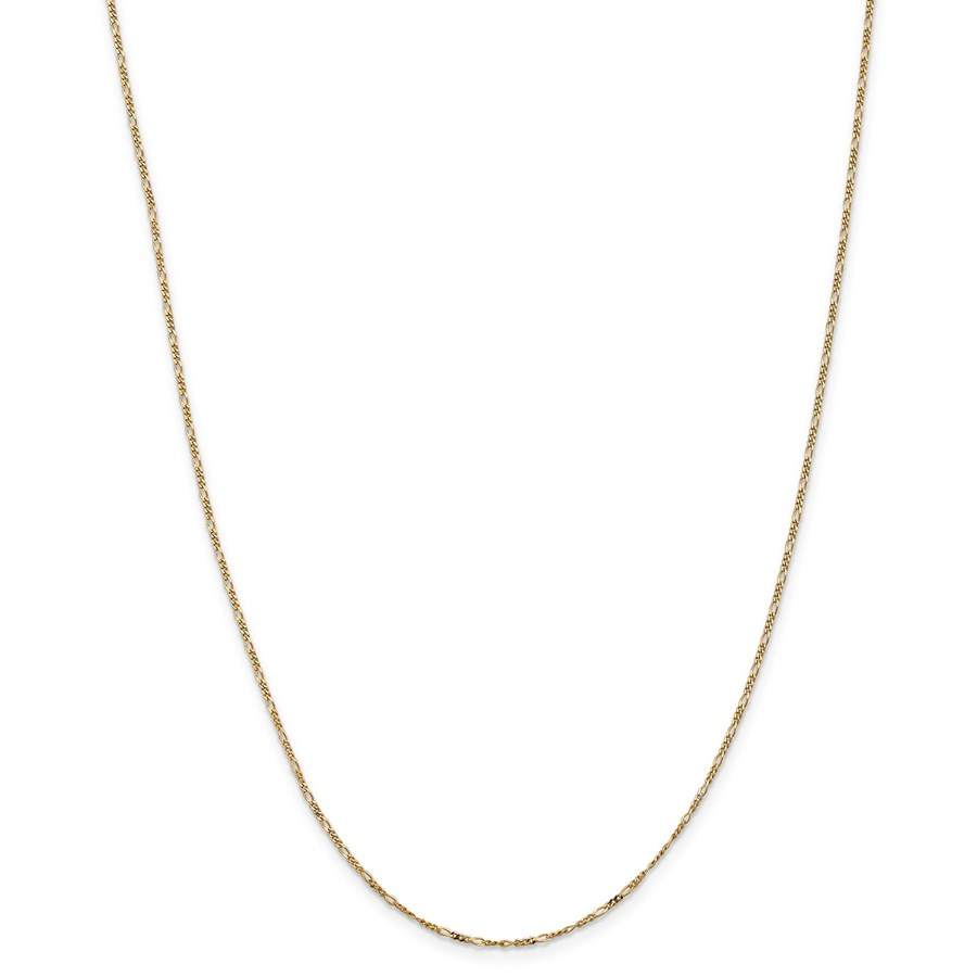14k 1.25 mm Flat Figaro Chain Necklace - 24 in.