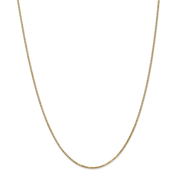 14k 1.3 mm Box Chain Necklace - 24 in.