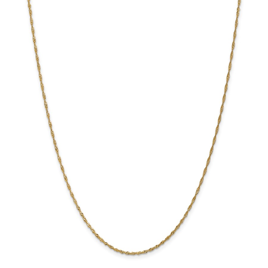14k 1.4 mm Singapore Chain Necklace - 18 in.