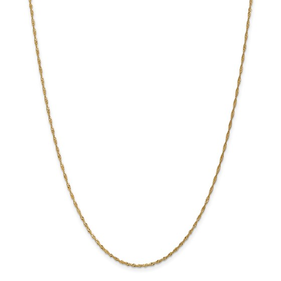 14k 1.4 mm Singapore Chain Necklace - 20 in.