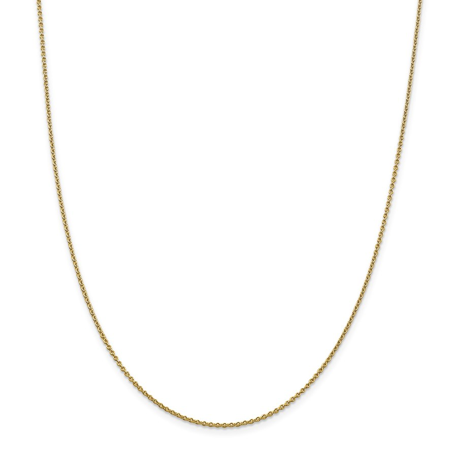 14k 1.4 mm Solid Polished Cable Chain Necklace - 18 in.