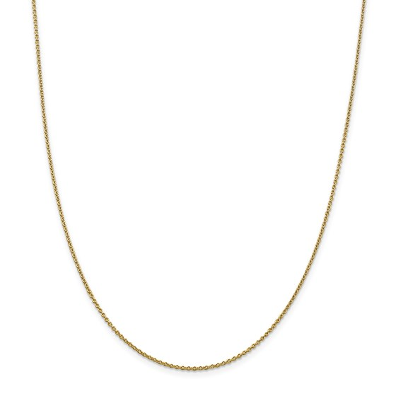 14k 1.4 mm Solid Polished Cable Chain Necklace - 20 in.