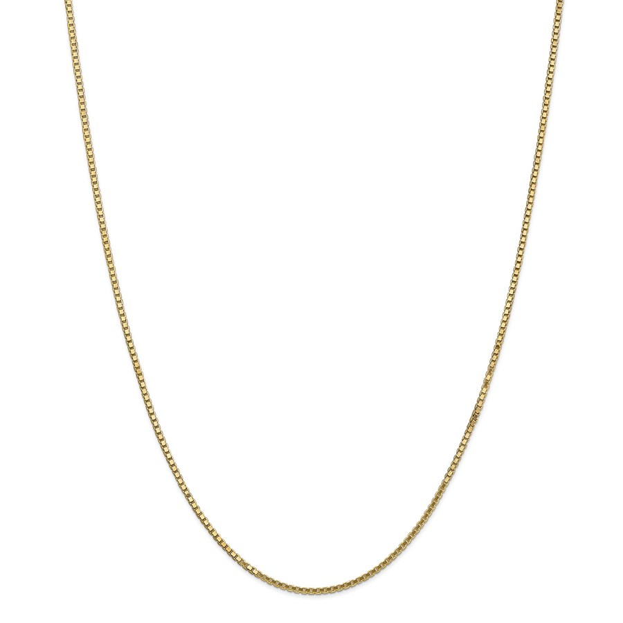 14k 1.5 mm Box Chain Necklace - 24 in.
