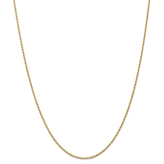 14k 1.50 mm Handmade Regular Rope Chain Necklace - 20 in.