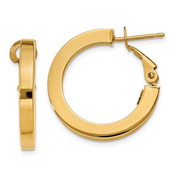 14k 15 mm Hoop Earrings