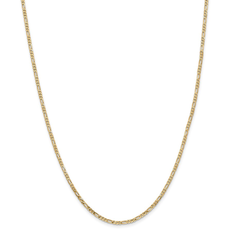 14k 2.25 mm Flat Figaro Chain Necklace - 24 in.