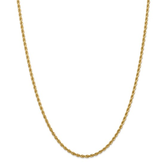 14k 2.75 mm Diamond-cut Rope Chain Necklace - 24 in.