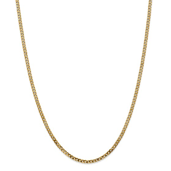 14k 2.9 mm Beveled Curb Chain Necklace - 20 in.