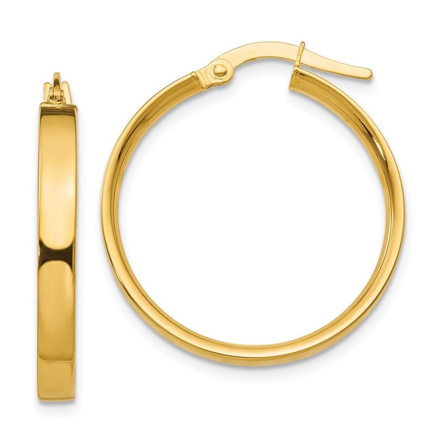 14k 21 mm Hoop Earrings