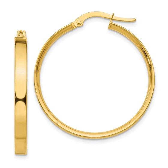 14k 27 mm Hoop Earrings