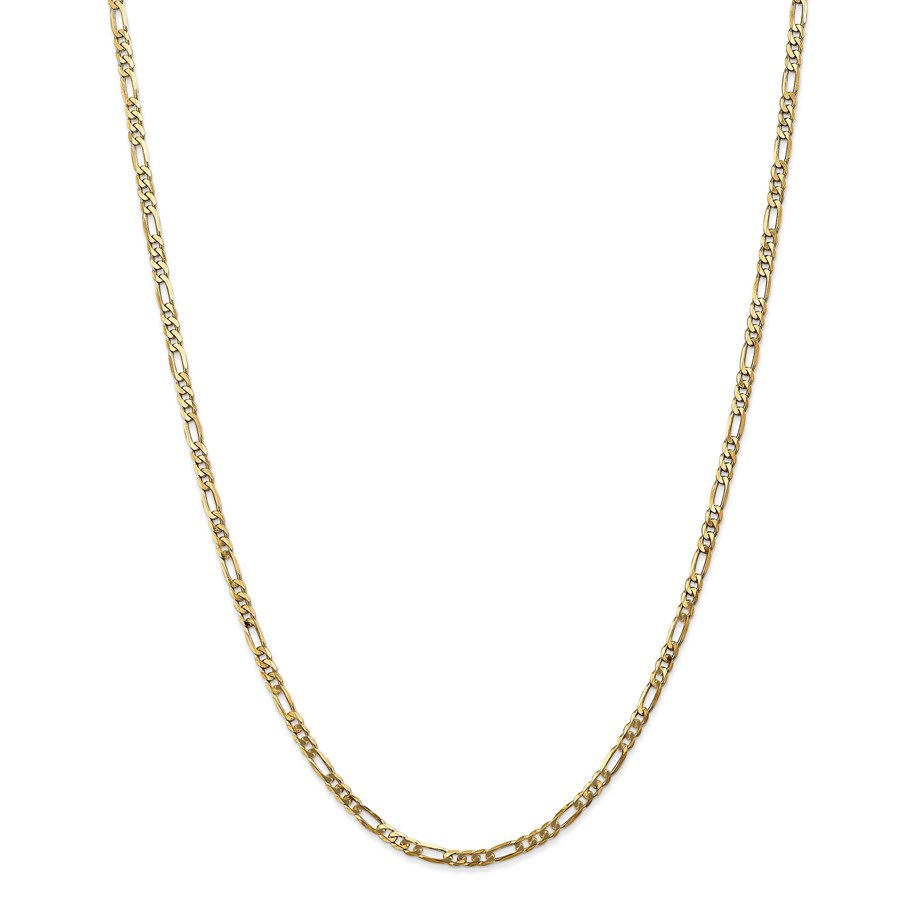 14k 3.00 mm Flat Figaro Chain Necklace - 20 in.