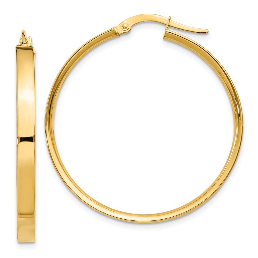 14k 33 mm Hoop Earrings