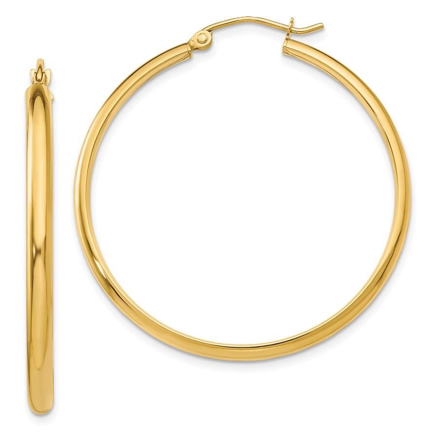 14k 37 mm Polished Hoop Earring