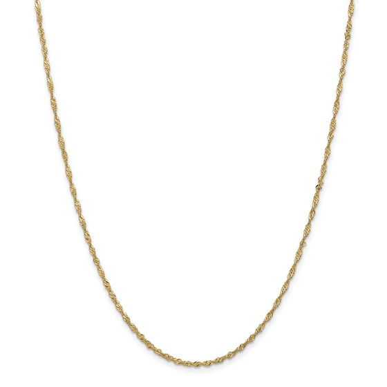 14k .5 mm Cable Rope Chain Necklace - 18 in.