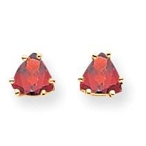 14k 5 mm Trillion Garnet Earrings