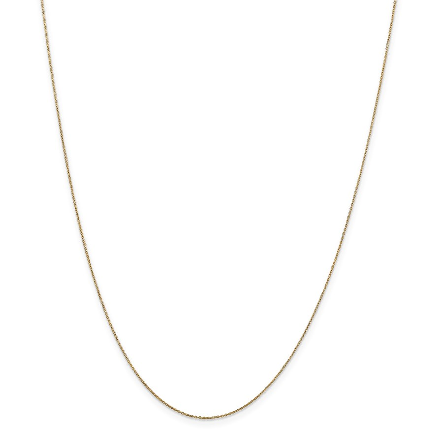 14k .6 mm Solid D/C Cable Chain Children's Necklace - 14 in.