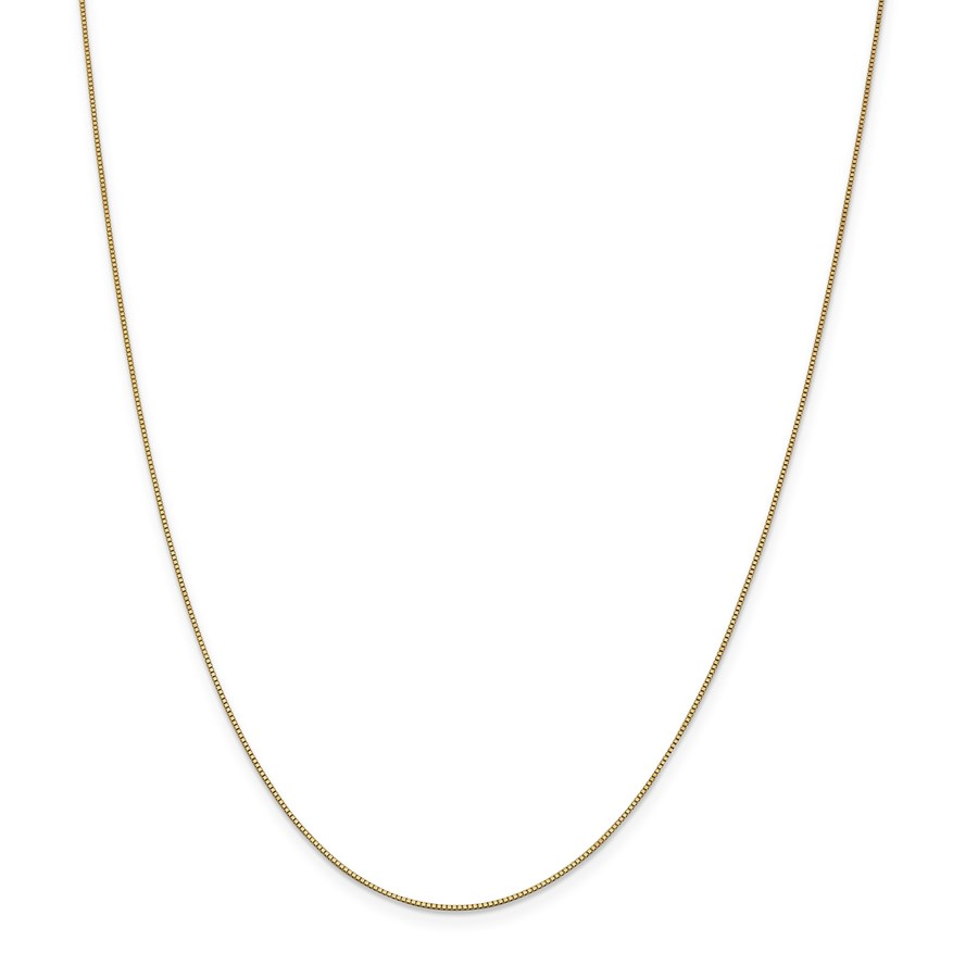 14k .7 mm Box Chain Necklace - 30 in.