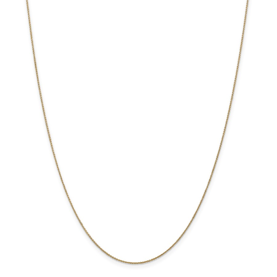 14k .75 mm Solid Polished Cable Chain Children's Necklace - 14 in