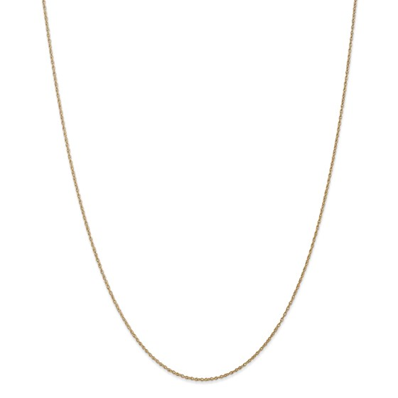 14k .8 mm Light-Baby Rope Chain Necklace - 16 in.