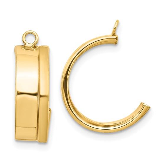 14K Dangle Earring Jacket - 17.41 mm