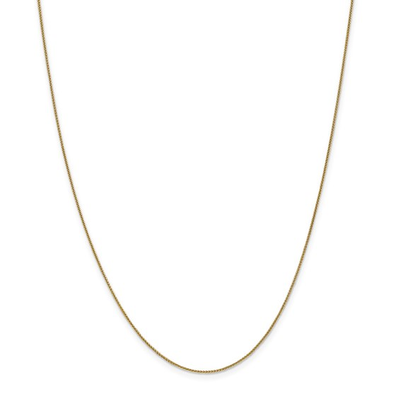 14k Gold 0.80 mm Spiga Pendant Chain Necklace - 16 in.