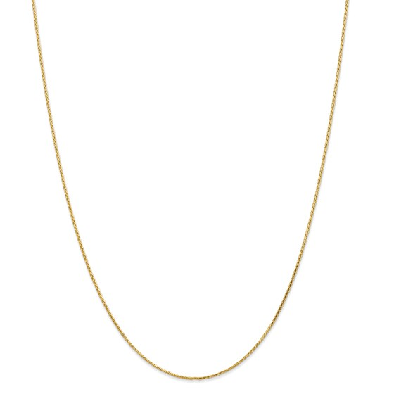 14k Gold 1.0 mm Diamond-cut Wheat Chain Necklace - 16 in.