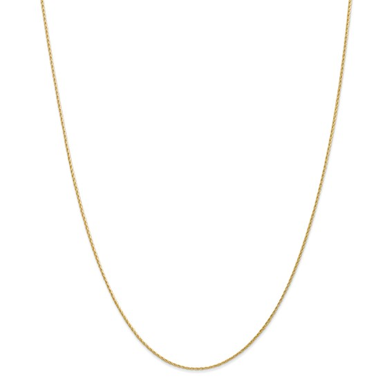14k Gold 1.00 mm Parisian Wheat Chain Necklace - 18 in.