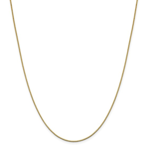 14k Gold 1.05 mm Box Chain Necklace - 20 in.