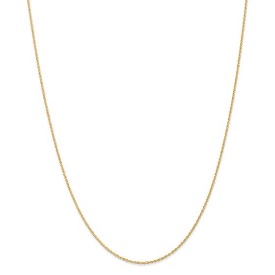 14k Gold 1.1 mm Baby Rope Chain Necklace - 16 in.