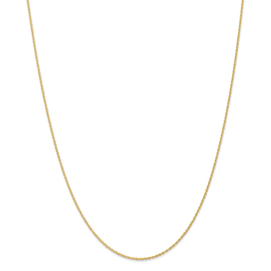 14k Gold 1.1 mm Baby Rope Chain Necklace - 20 in.