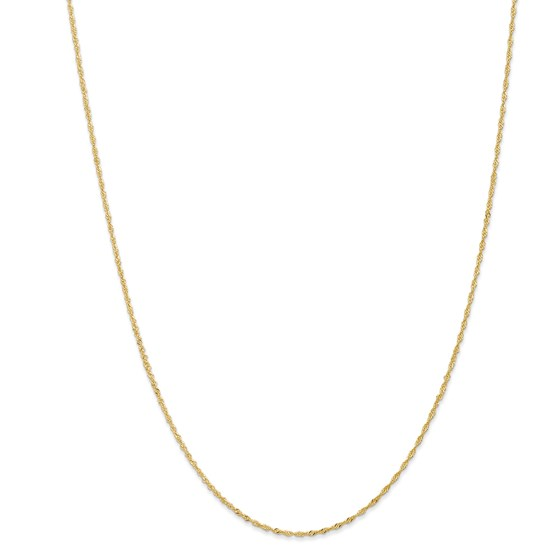 14k Gold 1.10 mm Singapore Chain Necklace - 16 in.