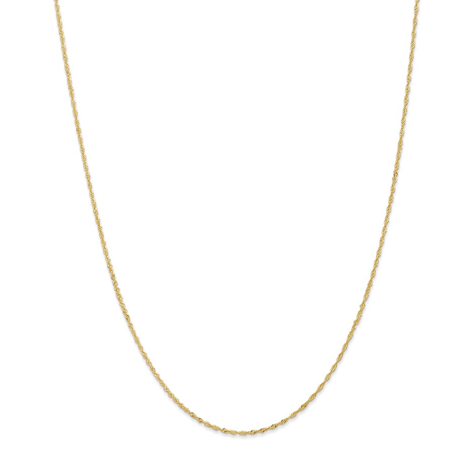 14k Gold 1.10 mm Singapore Chain Necklace - 24 in.