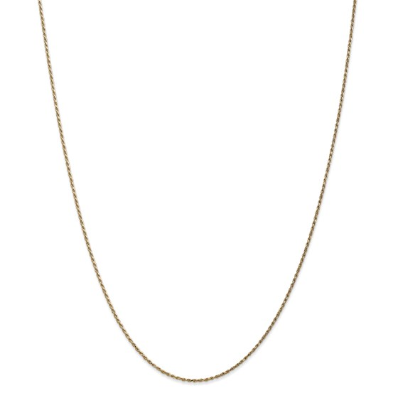 14k Gold 1.15 mm Machine-made Rope Chain Necklace - 20 in.