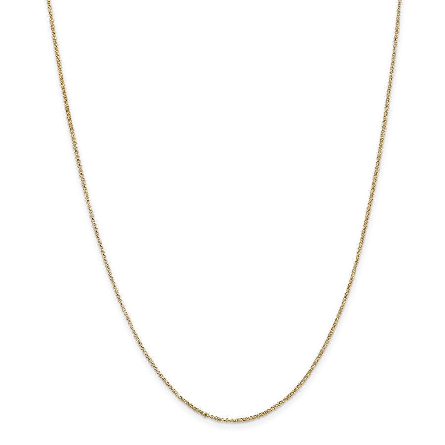 14k Gold 1.15 mm Rolo Pendant Chain Necklace - 16 in.