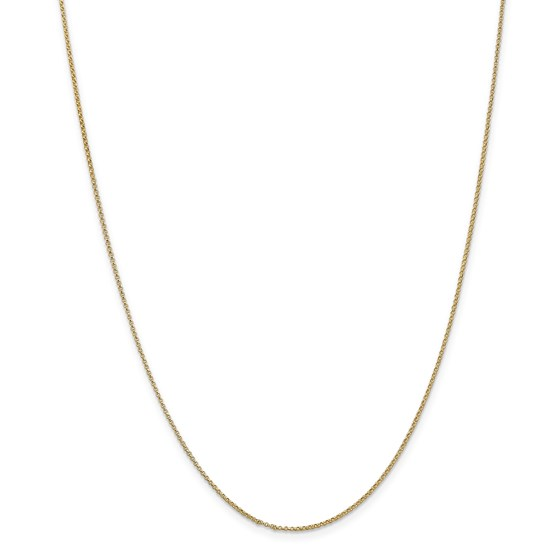 14k Gold 1.15 mm Rolo Pendant Chain Necklace - 18 in.