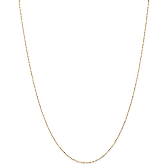 14k Gold 1.2 mm Diamond-cut Baby Ball Chain Necklace - 18 in.